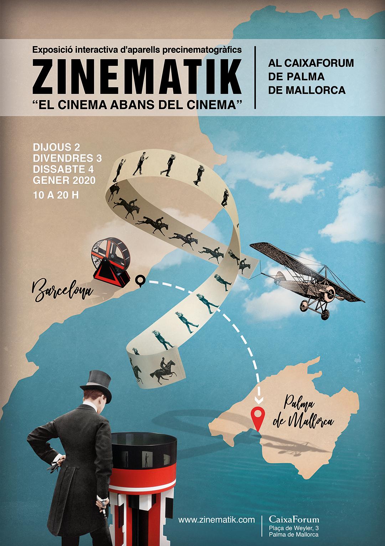"""ZINEMATIK, """"el Cinema abans del Cinema"""" · Exposició interactiva d'aparells precinematògrafics al CaixaForum de Palma de Mallorca. Dijous2, divendres 3, dissabte 4 de gener 2020"""